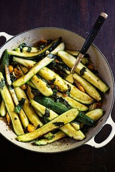 Braised Zucchini with Sun Gold Cherry Tomatoes & Basil | Easy Cookbook Recipes