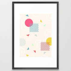 Buy Geometric Framed Art Print by janainanmonteiro. Worldwide shipping available at Society6.com. Just one of millions of high quality products available.
