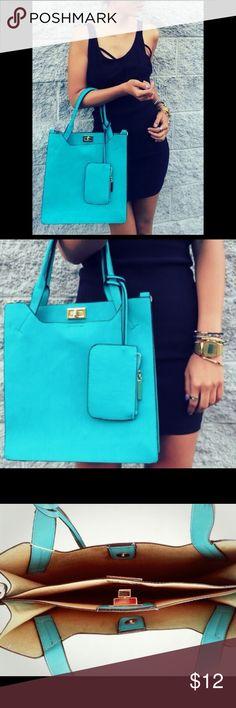 Aqua Blue Fashion Bag **Super Sale** Trendy Blue bag, perfect for summer! Bags Totes