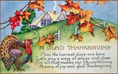 vintage postcard Thanksgiving