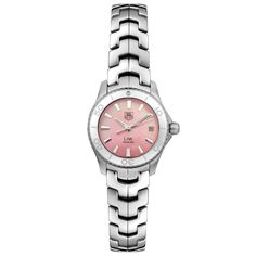 TAG Heuer Women's Link Quartz Pink Mother of Pearl Watch: Watches Elegant Watches, Casual Watches, Cool Watches, Wrist Watches, Women's Watches, Latest Watches, Tag Heuer, Sport Watches, Luxury Watches