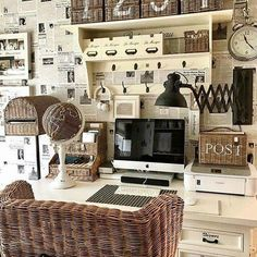 Have a relaxing Sunday💛 Country Cottage Interiors, Interior Decorating, Interior Design, Storage Baskets, Interior Inspiration, Rattan, Home Office, Sweet Home, Photo Wall
