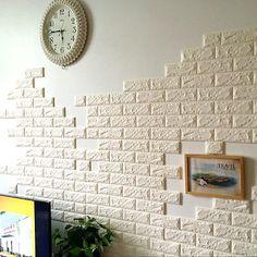Papel De Parede Tijolo 3D padrão de parede de fundo moderno Tv Quarto Sala Decoração