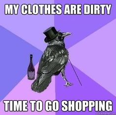 Laundry is for the birds.
