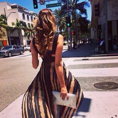 """Spotted in LA Hollywood - one of our """"Kiss Me"""" clutches looking stunning on the other side of the globe! <3"""