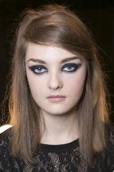 Tracy Reese Fall 2013 Show - fashion week, mally, erin's faces, smoky eye, 60's hair, lace