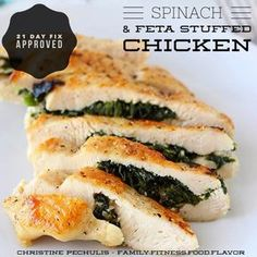 21 Day Fix - Spinach and Feta Stuffed Chicken Breasts