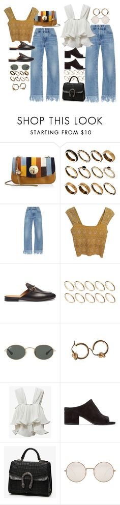 """""""Untitled #10628"""" by nikka-phillips ❤ liked on Polyvore featuring See by Chloé, ASOS, 3x1, Free People, Gucci, Ray-Ban, 3.1 Phillip Lim, Illesteva and Acne Studios"""
