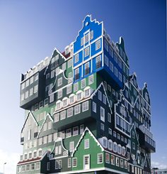 The Inntel Hotel in Zaandam, the Netherlands. Yes, that's a real building, not a Photoshop or a render.