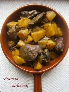 FRANCIA CSIRKEMÁJ Meat Recipes, Chicken Recipes, Pot Roast, Paleo, Food And Drink, Turkey, Low Carb, Favorite Recipes, Lunch