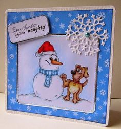 """Snow Fun"" digi stamp http://www.doctor-digi.com/digital-stamp-christmas/-snow-fun-digital-stamp Card by Ruth C http://tiptoptoppers.blogspot.co.uk/"