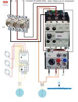 Esquemas eléctricos: Comando de partida directa. Motor trifasico de un ...