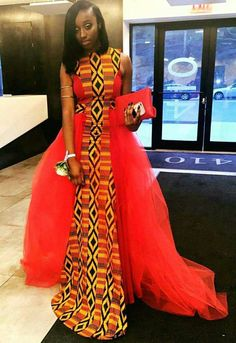 Kente wedding dress Ankara dress African wedding by SleekLife African Prom Dresses, African Wedding Dress, Ankara Gowns, African Dresses For Women, African Attire, African Wear, African Fashion Dresses, African Women, Ankara Dress