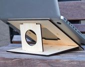 Flio Special Edition - Ultra Portable and Lightweight Laptop Stand - White Bamboo