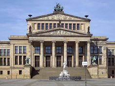 Konzerthaus, Berlin, Karl Friedrich He was one of the most prominent architects of Germany and designed both neoclassical andneogothic buildings. - Wikipedia, the free encyclopedia Neoclassical Architecture, Historical Architecture, Architecture Design, German Architecture, Classic Architecture, Modern Buildings, Beautiful Buildings, Schauspielhaus Berlin, Famous Architects