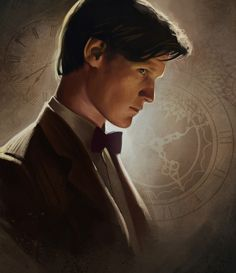 Matt Smith is a babe and this digital painting is incredible /Doctor Who Illustration by Angela Taratuta.