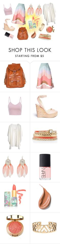 """Where is the Sun?"" by mygreenbag ❤ liked on Polyvore featuring Valentino, AX Paris, Jimmy Choo, White House Black Market, NARS Cosmetics, tarte, Lucky Brand, bags, summer2015 and Spring2015"