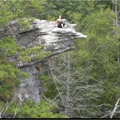 I am a little afraid of heights but I would still climb up here to see the view in the North Carolina mountains
