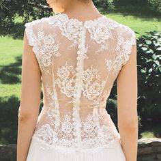 Wedding - For a very short period of time. Designer Wedding Gown Bohemian Wedding Dress Lace Back dress from chiffon Made to order - New