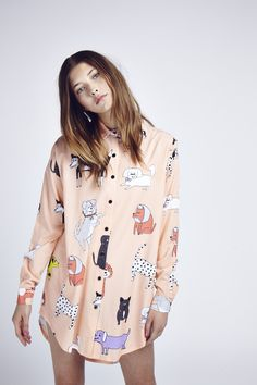 Lazy Oaf Dog Walk Shirt  http://spotpopfashion.com/nov1