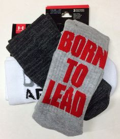 NWT Men/'s UNDER ARMOUR Grey ALLSEASON WOOL Boot Socks Size Medium 4-8.5
