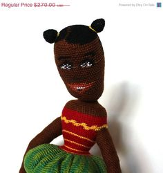20 OFF SALE Shanikwa  A Collectible doll crochet knitted by liatib, $216.00