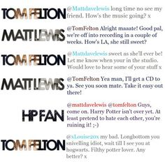 i love tom felton!