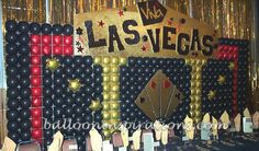 Vegas! themed Bar Mitzvah party decorations | ballooninspirations.com