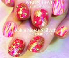 Glowing ikat and glitter flowers