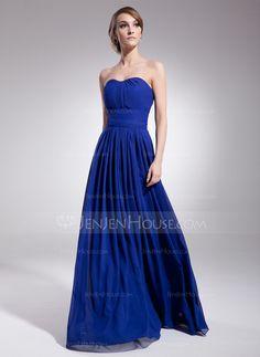 Bridesmaid Dresses - $108.99 - A-Line/Princess Sweetheart Floor-Length Chiffon Bridesmaid Dress With Ruffle (007051836) http://jenjenhouse.com/A-Line-Princess-Sweetheart-Floor-Length-Chiffon-Bridesmaid-Dress-With-Ruffle-007051836-g51836