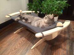 Купить Гамак для кошек - Серый мягкий - гамак, гамак для кошек, лежанка для кошки, для кошки