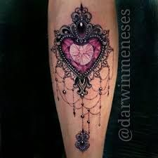 Image result for lace heart tattoo