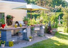Your backyard is your private retreat. Enhance it by adding touches that make it special: a water feature, comfy seating, lovely plant beds, even just a hammock. Here is some inspiration.