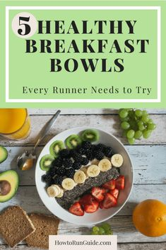 5 delicious healthy breakfast bowl recipes for runners to start the day nutritiously (and deliciously! These easy, healthy oatmeal bowls are perfect for breakfast - try these 5 healthy breakfast bowl recipes and fuel your day the right way! Healthy Eating Recipes, Healthy Snacks, Healthy Nutrition, Halal Recipes, Nutrition Tips, Healthy Drinks, Delicious Recipes, Yummy Food, Runners Food