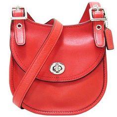 c50e535ad0ef NWT Coach Legacy Leather Mini Shoulder Crossbody Bag in Carnelian  48038   158 Coach Legacy