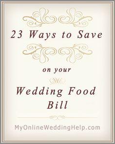23 ways to save on wedding food costs