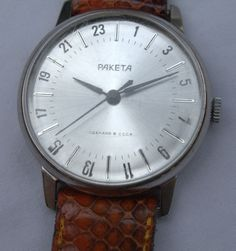 Vintage Unusual Paketa 24 Hours Russian Watch Needs Service
