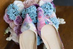 Beautiful custom wedding shoes. Photo by Ashley Hamm Photography.