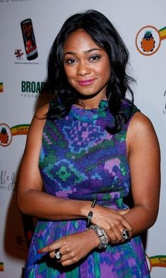 Tatyana Ali wearing M.C.L by Matthew Campbell Laurenza bangles and rings, 2011