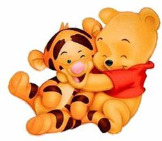 """Baby Winnie the Pooh Hugging Baby Tigger. """"Winnie the Pooh and Friends"""" Wallpaper Iphone Disney, Cute Disney Wallpaper, Cute Cartoon Wallpapers, Pooh Baby, Tigger Winnie The Pooh, Clipart Baby, Kawaii Disney, Baby Cartoon Characters, Winnie The Pooh Drawing"""