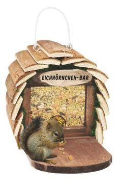 """Coole """"Eichhörchen-Bar"""" Futterstelle bietet den kleinen Nagern trockenes und sauberes Futter"""