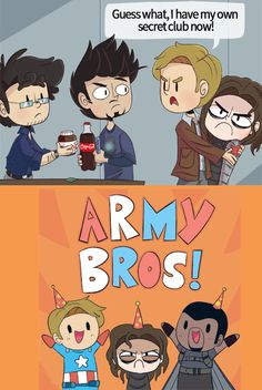 Captain America Army Bros