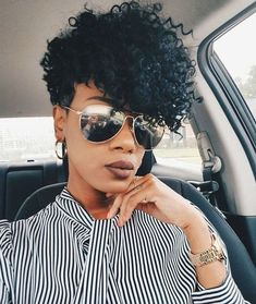 Tips And Tricks For Beautiful Hair With Minimum Fuss Short Curly Hair, Short Hair Cuts, Curly Hair Styles, Black Girls Hairstyles, Afro Hairstyles, Simple Hairstyles, Medium Hairstyles, Natural Hair Cuts, Natural Hair Styles