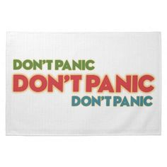 """FANART! Kitchen Towel """"Don´t Panic"""" Hitchhikers Guide to the galaxy (published by the big publishing houses of Ursa Minor, issued in the form of a micro-sub-meson-electronic-unit). A tribute to Douglas Adams and his 4-volume trilogy including 5 Band """"The Hitchhiker's Guide to the Galaxy"""". Read more..."""