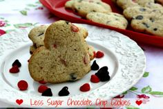 Mommy's Kitchen: Heart Shaped Chocolate Chip Cookies {Made With Truvia Baking Blend}