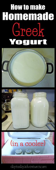 This is SERIOUSLY easy!  Do you know how to make homemade Greek yogurt in a cooler?  This tutorial makes is simple - DaytoDayAdventures.com