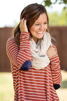 Luxe Knit Infinity Scarf-Ivory by Jane Divine Boutique | www.janedivine.com