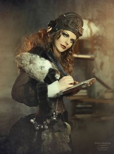 Steampunk Girl.  I like the fur touches