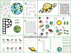 19 pages of free Planets Do-a-Dot Printables for kids ages 2-6. This pack has great graphics and is perfect for kids who are learning about our solar system!    Gift of Curiosity