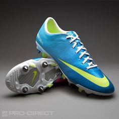 Nike Football Boots - Nike Mercurial Vapor IX SG Pro - Soft Ground - Soccer Cleats - Neptune Blue-Volt-Tide Pool Blue